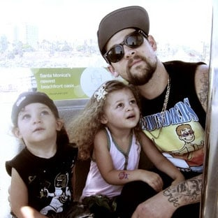 Joel Madden Tour Pictures With Harlow Madden and Sparrow Madden