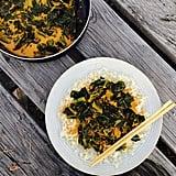 Thai Curry Collard Greens and Riced Cauliflower