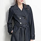 Calvin Klein denim trench coat ($138)
