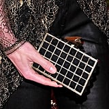 Hilary Rhoda carried a Kotur box clutch.