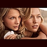 """Karlie Kloss didn't just share a picture of herself with pal Taylor Swift, but she also asked the singer to be her """"#Galentine."""""""