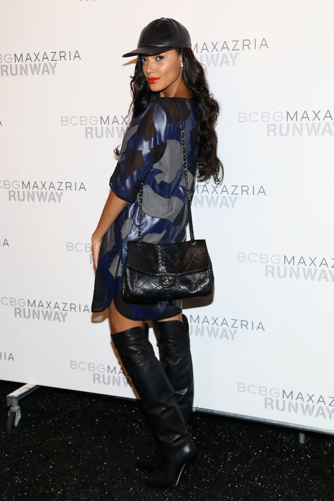 Selita Ebanks went sporty for Thursday's BCBG Max Azria show.