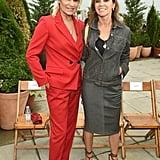 Yolanda Hadid and Carine Roitfeld