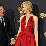 Nicole Kidman and Keith Urban at the 2017 Emmys