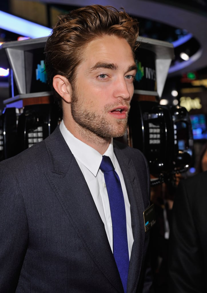 Robert Pattinson walked around the New York Stock Exchange.
