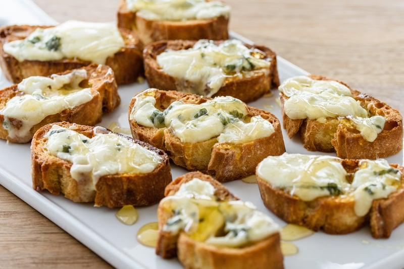 Giada De Laurentiis's Bruschetta With Gorgonzola Cheese and Honey