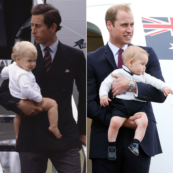Prince William and Prince George Childhood Comparison