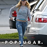 Blake Lively walked to the car after a grocery shopping trip with Ryan Reynolds in New York.