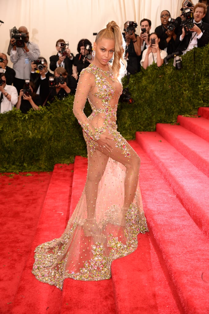 "Girls run the world and Beyoncé rules the Met Gala. The singer has made a number of appearances at the star-studded event over the years, and she always manages to outdo herself. When the singer hits the red carpet, she makes sure that all eyes are on her. Whether she's flaunting her figure in a sexy latex dress or she's showing PDA with husband JAY-Z on the steps, she's proven time and time again that she's the ""Queen Bey"" of the Met Gala. As we cross our fingers for another impromptu appearance this year, look back at some of her best moments.       Related:                                                                                                           87 Unforgettable Met Gala Moments"