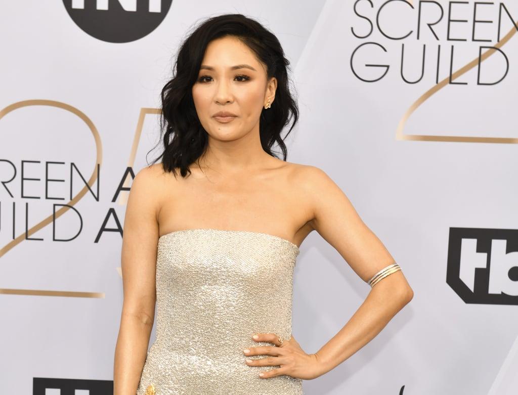 wu constance sag awards beauty worth carpet celebrity popsugar makeup fresh boat strip nails