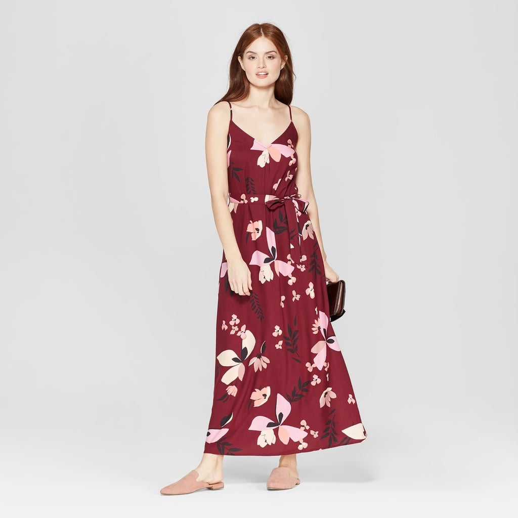 ca46ffd14a Floral Print Sleeveless Maxi Dress