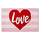 Love Hooked Rug