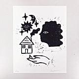 Haus Linocut Print