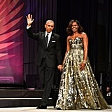 Barack and Michelle Obama at Black Caucus Awards Dinner 2016