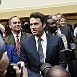 Ben Affleck flashed his signature grin after speaking in front of Washington DC's House Committee on Foreign Affairs in March 2011.