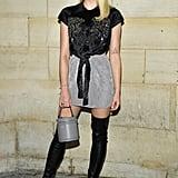 Sophie Turner at Paris Fashion Week in 2019