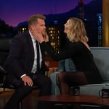 Karlie Kloss Just Curled James Corden s Lashes With a Teaspoon - Yes, Really