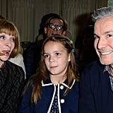Anna Wintour and Lillian and Baz Luhrmann sat front row at Valentino's couture show.