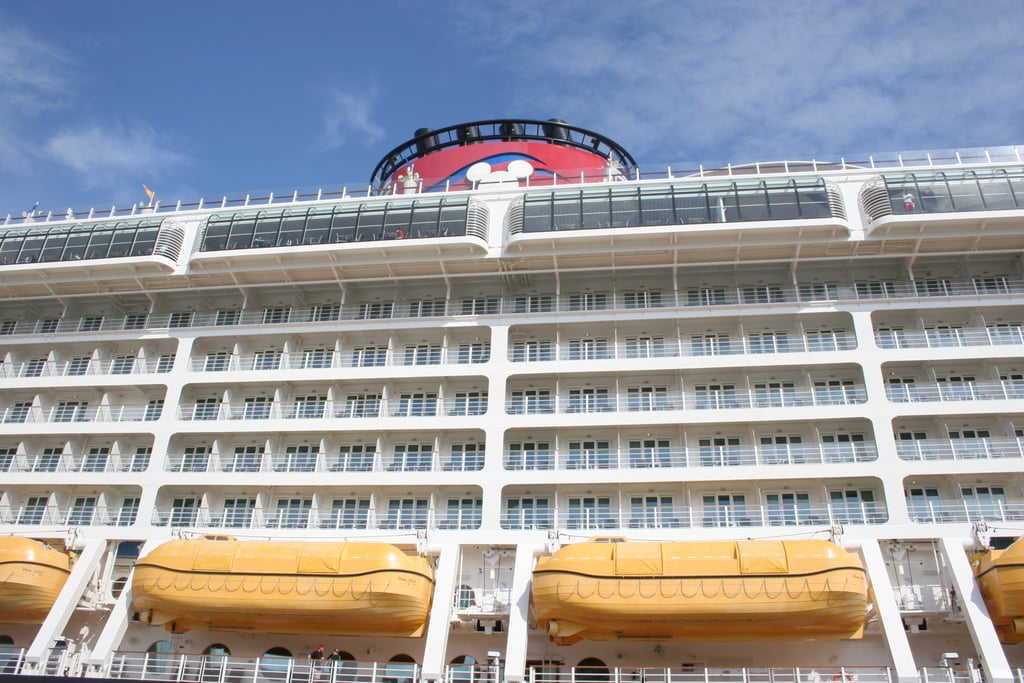 9. The colors of Disney Cruise ships are inspired by Mickey Mouse. Disney Cruise ships are painted in colors that match the famous mouse — white structure, black hull, two big red funnels, and a special yellow for the lifeboats.  10. Disney Fantasy and Disney Dream are 1,115 feet long. According to Disney, the ships are longer than the height of the Eiffel Tower in Paris and the height of NYC's Chrysler Building.