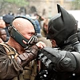 Tom Hardy and Christian Bale in The Dark Knight Rises.
