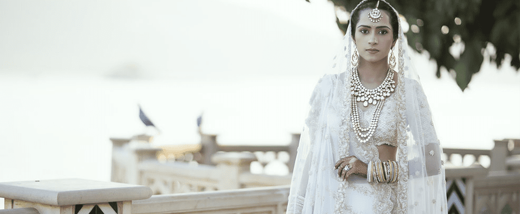 This Bride Literally Captured Her Love Story in Her Wedding Dress