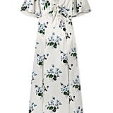 Les Reveries Tie-Front Floral-Print Silk-Satin Maxi Dress