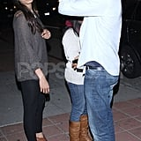 Dev Patel and Freida Pinto went to dinner at Pica in LA.