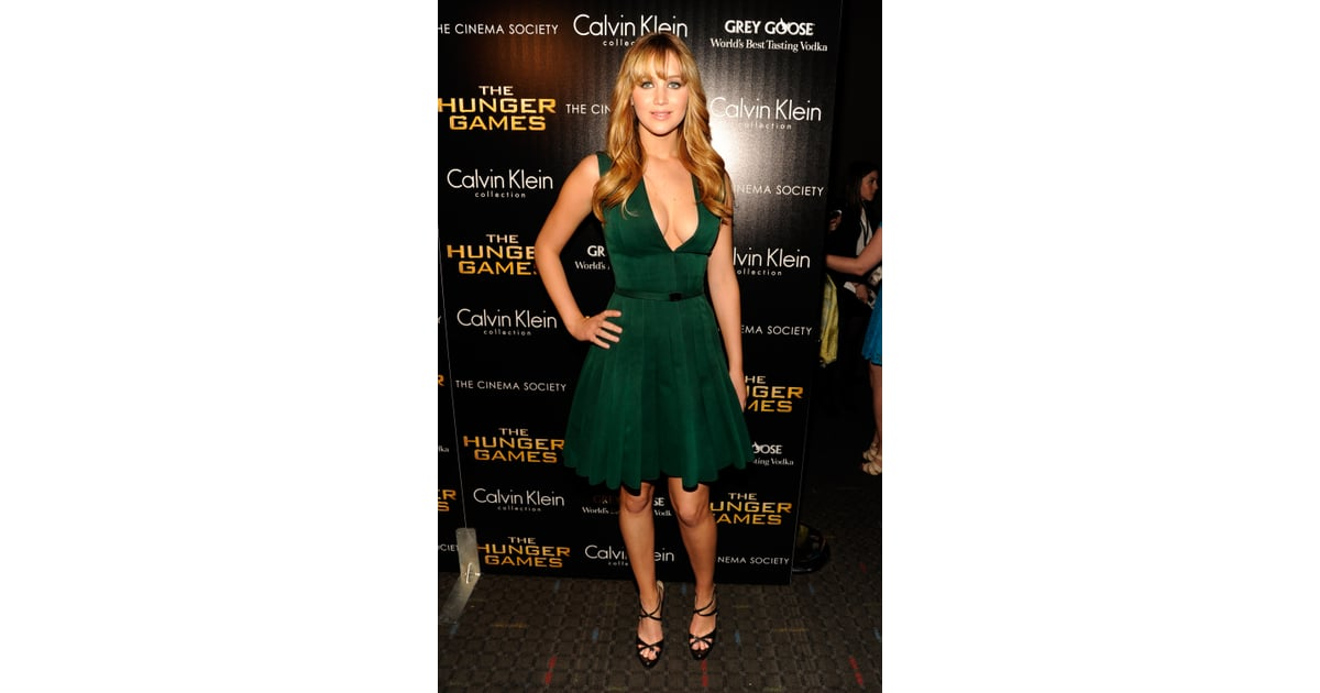 Jennifer Lawrence Green Dress Pictures In Nyc Popsugar