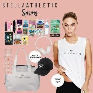 Stella Athletic Spring Showbag ($30) Includes:  Gym bag  Athletic cap  Drink bottle