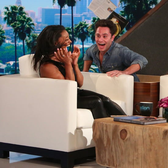 Simone Biles Gets Scared on The Ellen DeGeneres Show 2017