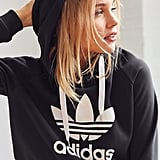 Adidas Trefoil Cropped Hoodie Sweatshirt