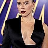 Scarlett Johansson Black Suit at Avengers Endgame Red Carpet