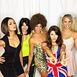 Nina Dobrev, Kayla Ewell, Hillary Harley, and Friends as the Spice Girls