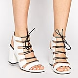 Senso Rhiannon White Leather Croc Heeled Sandals ($290)