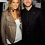 He posed backstage with Bar Refaeli at New York Fashion Week in 2009.