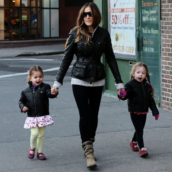 Sarah Jessica Parker Wearing Leather Jacket in NYC Pictures
