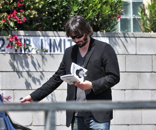 Photo of Keanu Reeves Reading in LA