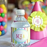 Rainbow Personalized Water Labels