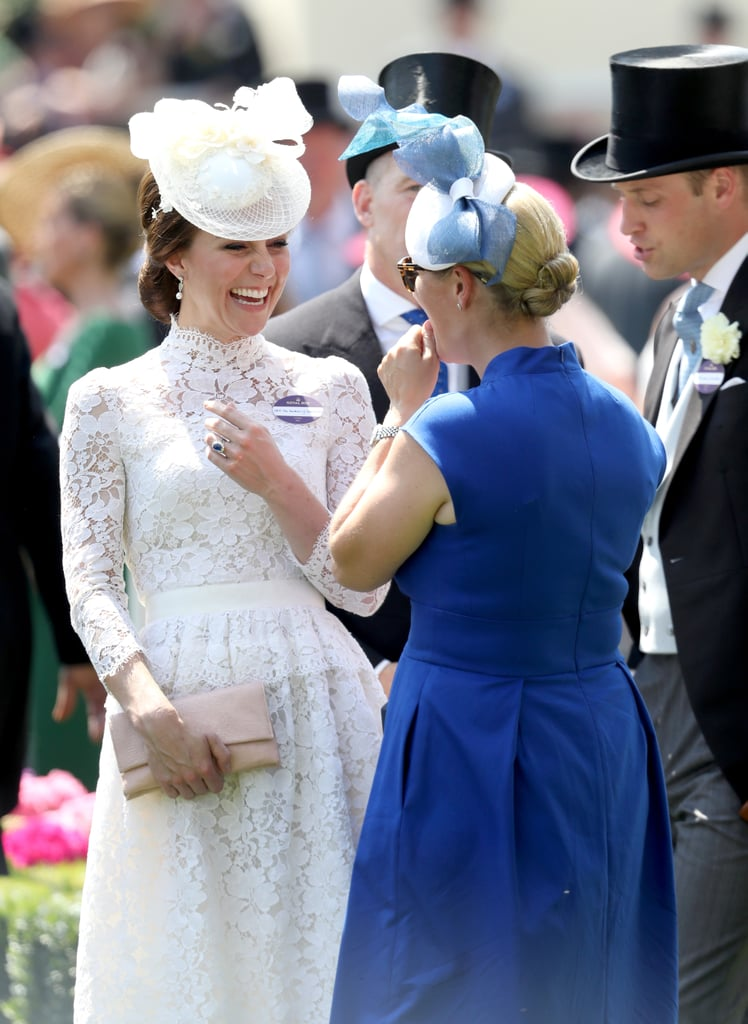 Kate Middleton and Zara Tindall at Royal Ascot in 2017