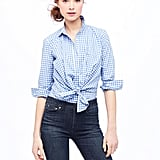 Gingham is at the top of our current must-have list, so this girlier printed button-up has our name written all over it. Worn with a pair of ballet flats and ankle-length skinny jeans, and this shirt will look picnic-perfect. Altuzarra For J.Crew Odette Blouse ($175)
