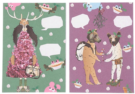 Say It In Style! Crafty, Charitable Topshop Christmas Cards By Margot Bowman and Pip Ling for 2010