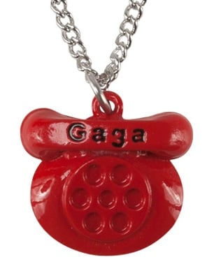Lady Gaga Telephone Necklace