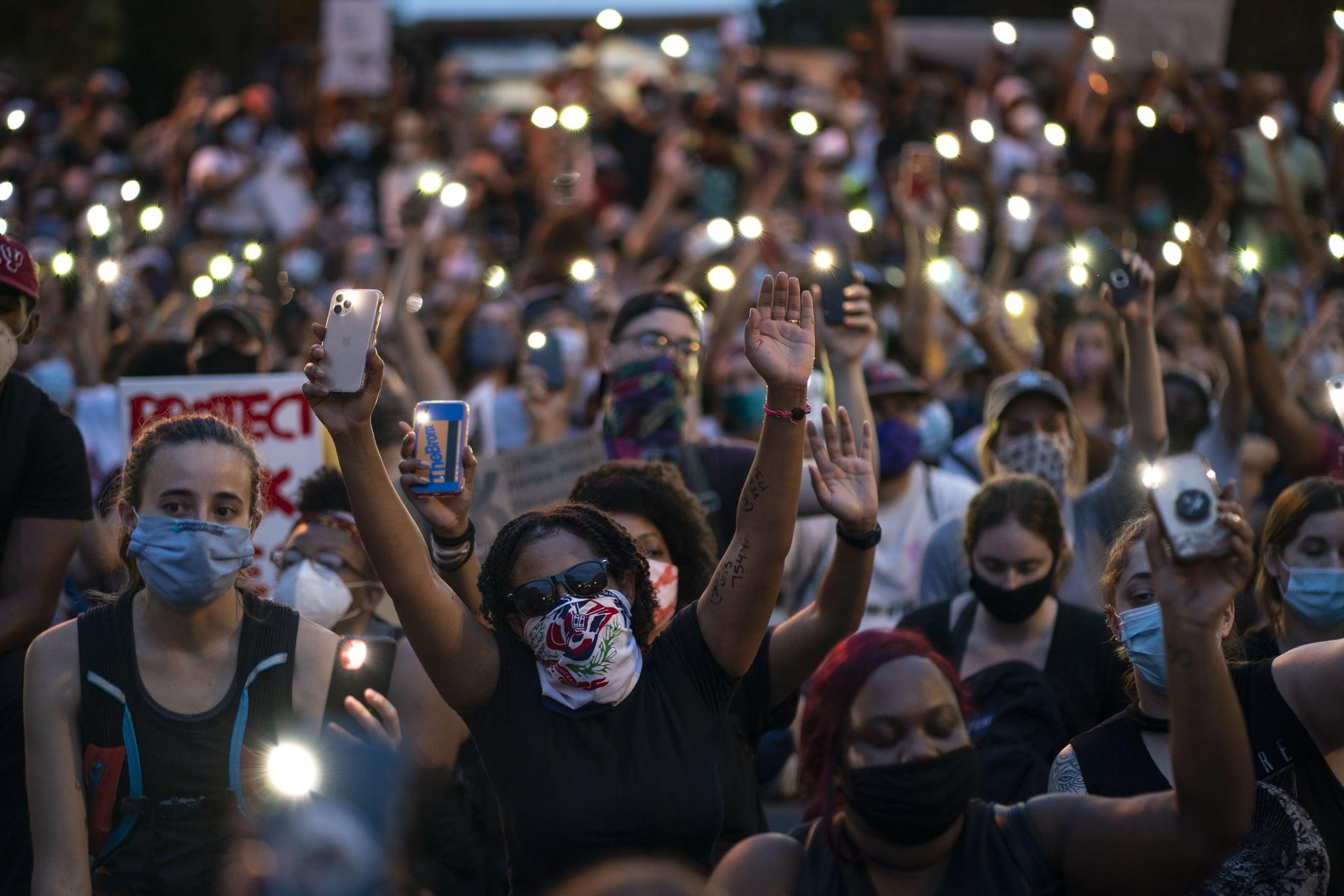 WASHINGTON, DC - JUNE 03: Demonstrators sing