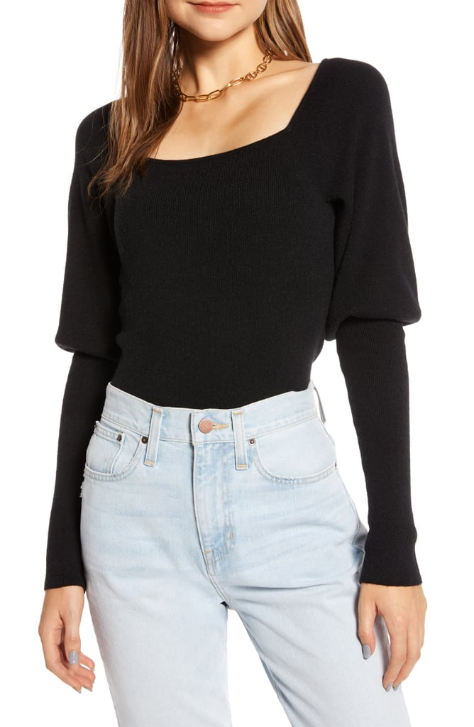 Something Navy Square-Neck Sweater