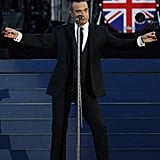 Robbie Williams sang for the Queen during the Diamond Jubilee concert.
