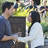 Josh Hopkins and Courteney Cox on Cougar Town. Photo copyright 2012 ABC, Inc.