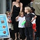 Angelina Jolie took her kids to Sydney Aquarium on Sept. 8.