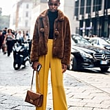 For a Pop of Color, Style It With Mustard Yellow Pants