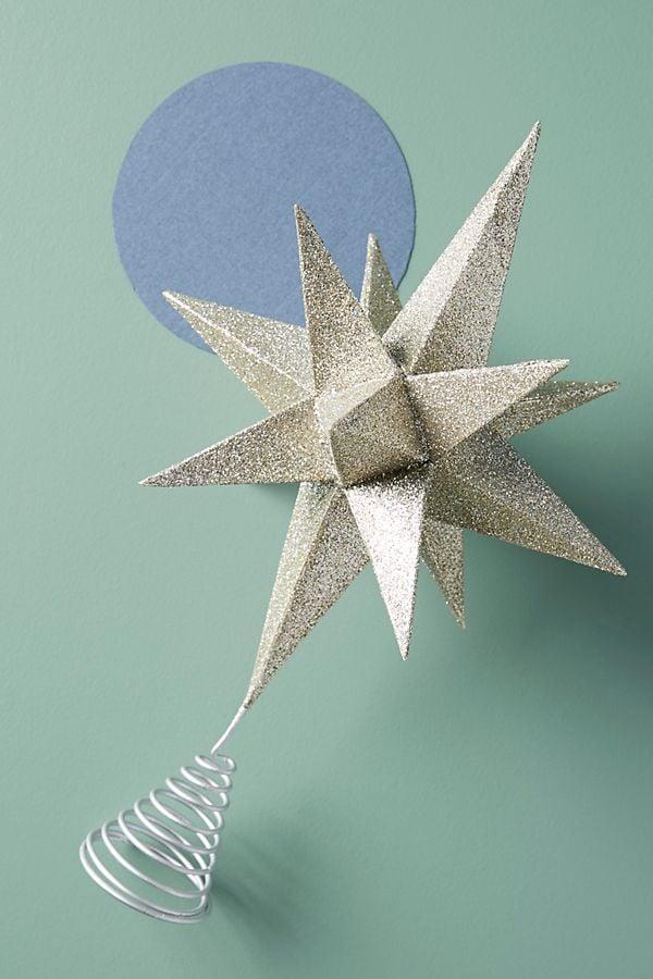 Glittering Star Tree Topper