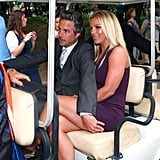 Britney Spears and Jason Trawick were driven to the Fox Upfronts party in NYC.